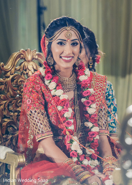 Ravishing indian bride at her wedding ceremony