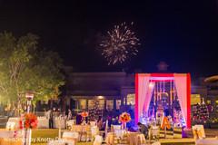 Delightful indian wedding reception decor