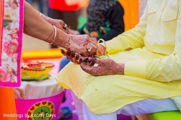 Traditional indian groom's pre-wedding ceremony