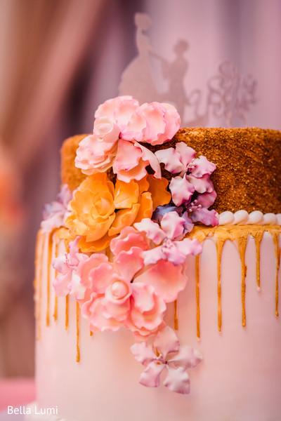 Beautiful indian engagement cake details
