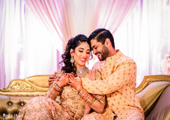Adorable indian couple just engaged