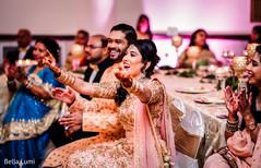 Indian bride enjoying performance