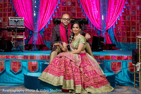 Indian lovebirds during sangeet