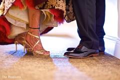 Vibrant  portrait of indian couple shoes