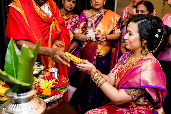 Indian bride during indian wedding rituals