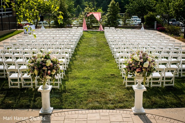 Dreamy wedding ceremony venue decor