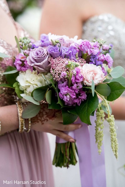 Indian bridesmaid's bouquet