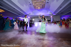 Marvelous indian bride and groom's dance performance