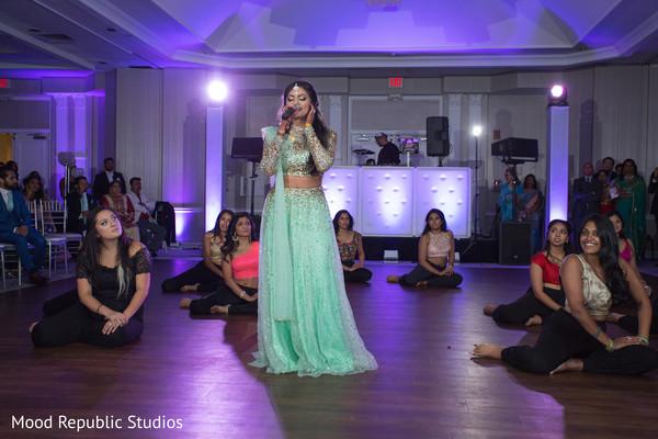 Indian bride sing peformance