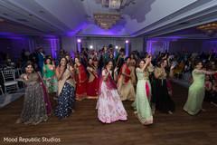 Vibrant indian wedding reception performance