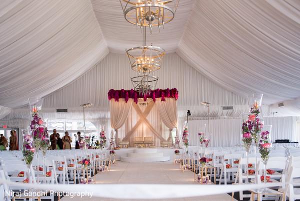 Stunning Indian wedding ceremony venue decor.