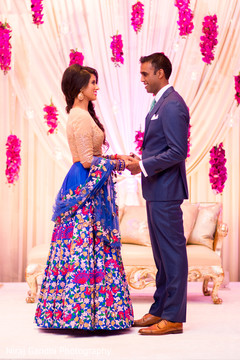 Indian couple at their photo shoot