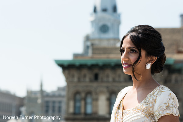 outdoor photography,indian bride makeup,white wedding dress