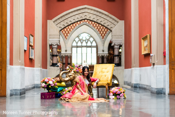 Dazzling indian bride's portrait