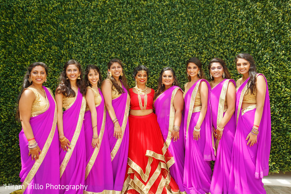 Marvelous capture of Indian bride and bridesmaids.