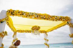 Lovely Indian wedding ceremony mandap decoration.
