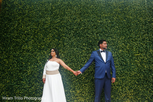 indian bride and groom,wedding reception fashion