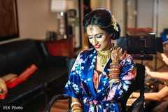 "Indian bride getting ready to say ""I Do""."