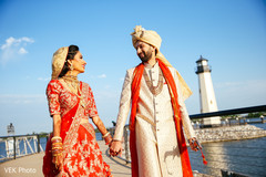 Cute indian bride and groom's first look capture