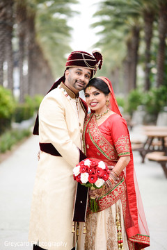 Fantastic indian bride and groom photoshoot