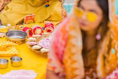 Indian pre-wedding ritual items.