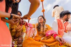 Incredible Indian bridal's colorful bangles.