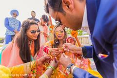 Indian bride getting her kalires on.