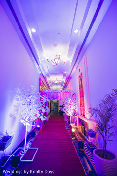 Marvelous Indian wedding aisle lights decoration.