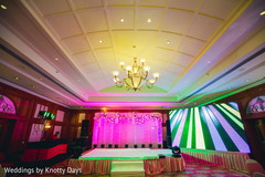 Indian pre-wedding stage decoration.