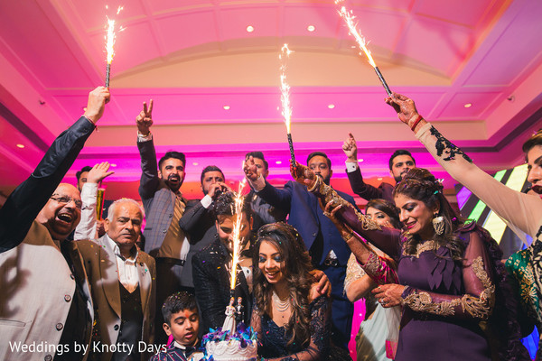 Marvelous Indian bride and groom's capture cutting cake.