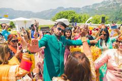 Indian groom's capture on pre-wedding celebration.