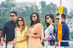 Gorgeous Indian bridesmaids and groomsmen capture.