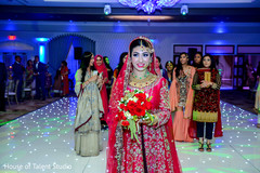 Vibrant portrait of indian bride