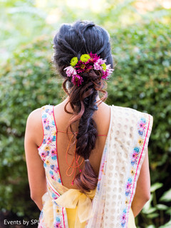 Dazzling indian bridal hair style