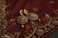 Dazzling indian bride's earrings
