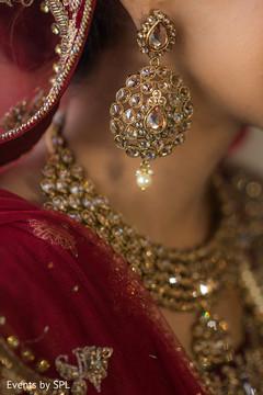 Glamorous indian bridal earrings