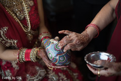 """Indian bride getting ready to say """"I Do""""."""