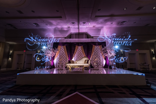 indian wedding reception,indian wedding reception floral and decor,lighting,reception stage