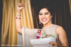 Joyful indian bride capture
