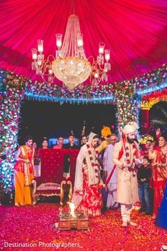 Indian wedding traditional Saptapadi ritual