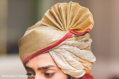 Indian groom's turban
