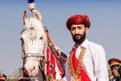 Dreamy indian groom portrait