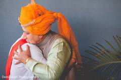 Indian groom with father capture