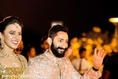 Gorgeous indian couple during reception