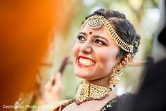 Ravishing indian bride smiling