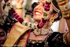 Joyful indian bride capture