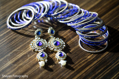 Indian bride's reception bangles and earrings.