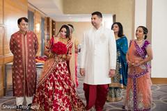 Wonderful Maharani about to enter to wedding ceremony.