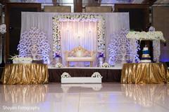 Delightful Indian wedding mandap table setup.