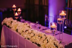 Delightful indian couple's reception table decor